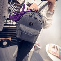 Wholesale 2016 New Women s Fashion Backpacks School Bags for Teenagers PU Solid Backpack Famous Brands Leather Backpack