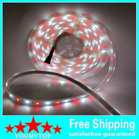 Wholesale Cheap M RGB White LED Strip RGBW WW SMD Flex LED Light M LEDS Waterproof Tube Silica V DC For Christmas