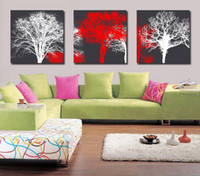 Cheap Modern Fine Abstract Tree Painting Giclee Print On Canvas Wall Art Home Decoration Set30194