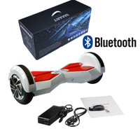 Wholesale Stock In US Smart Balance Wheel Bluetooth Hoverboard Inch Two Wheel Self Balance Wheel Scooter Remote Led Lights