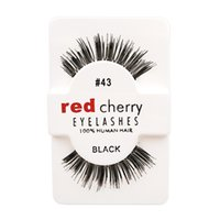Wholesale Hot Models Fashion Handmade Red Cherry Beauty Hair Eyelashes Adhesive Makeup Glamour Fake Lashes Kind