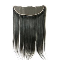 Wholesale Price Cheap unprocessed Virgin Hair Lace Frontal Closure Straight Lace Size x4 Natural Black Color quot to quot