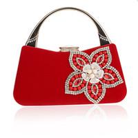 Shell Diseño de la flor de Shell de accesorios bolsos de las mujeres con cuentas de embragues del día de señora tarde del monedero del bolso para la boda