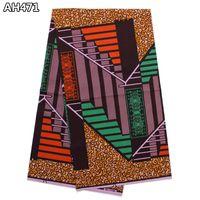 africa wax - High quality unisex ankara wax fabric fashion classic africa block dutch wax printed fabric for sewing cloth AH471