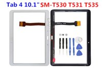 Wholesale Touch Screen Digitizer Front Outer Glass Panel with Pre install Adhesive for Samsung Galaxy Tab quot SM T530 T531 T535