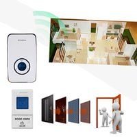Wholesale 120m Range Waterproof Smart Wireless Door Bell AC V Receivers V A Transmitter Home Office Chords LED Doorbell