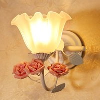 Wholesale 1 piece Modern single head wall lamp with a glass chimney The sitting room staircase wall lamp Children room wall decoration