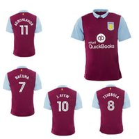 aston villa jersey - New Arrived Top Quality Aston Villa home red Soccer Jerseys Maillot de foot Short sleeve Middlesbrough Home Away name number