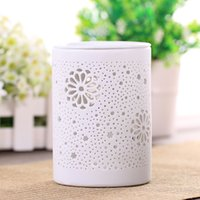 electric oil burner - ceremic light Aromatherapy Lamp White Ceramic Electric Oil Burner with Dimmer Control and Butterfly Image Beautiful Environmentally Friendly