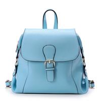 Wholesale The new women fashion leisure backpack shoulder split hide cowhide handbags