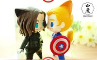 Wholesale PVC Doll Captain America Winter Soldier Bucky q version chibi action figures cute Marvel s The Avengers toys brinquedos model