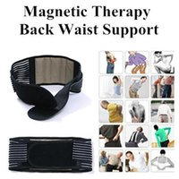 Wholesale New Tourmaline Adjustable Self heating Lower Pain Relief Magnetic Therapy Back Waist Support Lumbar Brace Belt Double Pull Strap