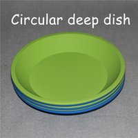 Wholesale Silicon Deep Dish Round Silicone Pan quot Non Stick Silicone Container Concentrate Oil BHO Round Silicone Pan DHL