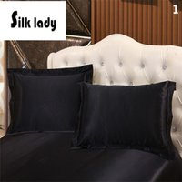 Wholesale 19momme Home Design Mulberry Silk Pillowcase x74cm Double Face Pillow Sham Pure Silk Free Fast Shipping