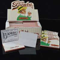 Wholesale Big Bambu Classic Rolling Paper mm Cigarette Tobacco Rolling Papers Brand New Sealed Smoking Paper with Big Bambu Watermark packs box