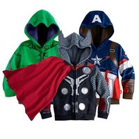 Wholesale 2016 New Brand Boys Avengers kids jackets and coats Outerwear kids Super hero captain america jackets clothing children