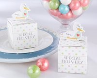 baby shower storks - Baby Shower Gift box of Little Special Delivery Stork Baby Favor Box for baby candy box and baby birthday favor