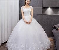 Wholesale Wedding dress Women s Double V neck Sleeveless Lace Wedding Dressand retro style custom made Leisure fashion modern design individual cha