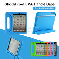 Wholesale Kids Safe Shockproof EVA Handle Case For ipad pro inch Mini1 OPP BAG