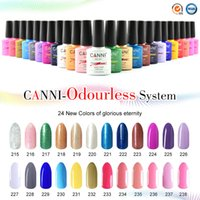arts factories - 30917X Hot Sale CANNI Nail Art Factory Supply ml Colors Odorless Soak Off UV LED Nail Gel Polish