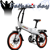 folding electric bicycle - US IN STOCK Addmotor CYBERTRON C350 Platinum White Folding Stelth Battery Luggage Rack E bike W V AH quot Electric Bicycle