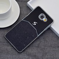 ace materials - Brushed Metal case for Samsung Galaxy A9 ACE cover shell with Luxury Skin hybird material