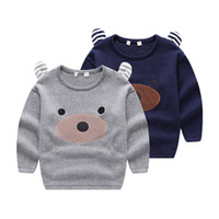 bear ear sweater - fashion children Boys and girls color cotton stereo ear Pullover bear bottomshirt kids sweater