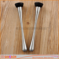 Wholesale High Quality Stainless Steel Bar Mojito Pestles Fruit Muddlers And Caipirinha Cocktail Pestles For Crushed Ice Barware Bar Tool