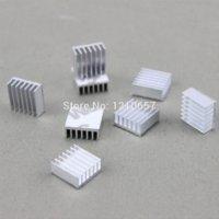 Wholesale 500pcs Silver Aluminum Heatsink MOS Heat sinks Cooling XBOX VGA X360 x x mm