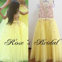 achat en gros de jaune robe pageant petites filles-Robe de soirée Robe de mariée Robe de mariée Robe de mariée