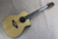 Wholesale Brand new quot factory direct sale solid spruce body folk acoustic guitar with cutway and fishman pickup