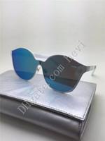 Precio de Gafas de diseño fresco-El diseñador de moda mujeres de lujo sunglass Irresistor 008 modelo de lente espejo redondo refrescar la lente marco de los vidrios del cordón de titanio brillante estilo polarizado