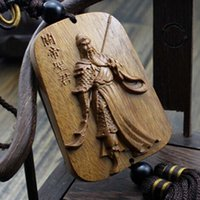 Wholesale Chinese Knot Wood Craft Car Pendant Gift Promotion Gift Luck Craft Key Holder Hot Sale Car Pendant AHJ052