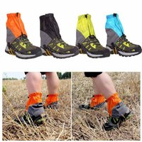 Wholesale Outdoor Gaiters Silicon Coated Nylon Waterproof Ultralight Gaiters Leg protection Guard Tear resistant Hiking Trekking Gaiters