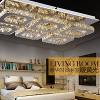 Wholesale Modern Crystal LED Ceiling Light Fixture Square Crystal Ceiling Lamp for Hallway Corridor Fast Shipping Ready Stock