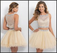 beautiful oscar dresses - Beadings Dresses Yellow Short Party Dresses Two Pieces Prom Dresses Oscar Cute Design Very Hot Sales Sell Good Beautiful r