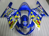 Wholesale 4 Free Gifts New ABS motor Fairing Kits for SUZUKI GSX R600 GSX R750 GSXR K1 Bodywork set blue Movistar