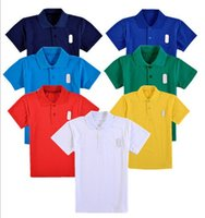 Wholesale Kids School Polo Shirt Girl s Tee Shirt Kids T shirt Kidswear High Quality Children Summer Short Sleeve Clothes Unisex Customize Child Tops