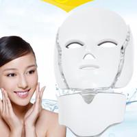 Wholesale 3 in LED facial mask Galvanic PDT Photon Face Mask For Skin Rejuvenation Wrinkle Removal Facial neck LED mask