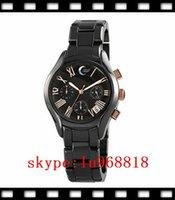 Women's best womens watch - TOP QUALITY BEST PRICE New AR1411 Womens Ceramic Watch ladies Black Chronograph Dial Quartz Wristwatch Orignal Box