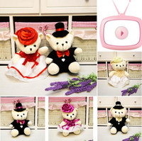 Wholesale Gifts for the wedding couples married doll toy bear doll one pair
