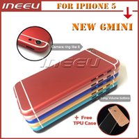 aluminum door bar - Back Battery Housing Covers for iPhone Aluminum Colorful Cell Phone Back Door Replacement Middle Frame Faceplates for Apple Mini