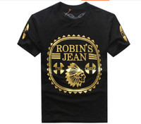 Cheap High quality cotton robin jeans camouflage men tshirt robin man t-shirt tee hiphop male wings short sleeve shirt plus size 3XL