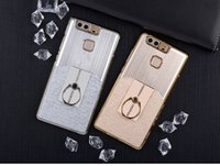 Wholesale For HUAWEI P9 P9 Plus Mobile Phone Shell Ring Support Cell Phone Cases Metal Hard Shell Neutral Luxury Color Options