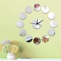 Cheap Quartz Analog wall clock styles Best acrylic Separates Mirror Clock