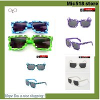 abstract beach - My World Sunglasses Creeper Glasses Square Novelty Mosaic Sun Glasses Men Women Boys Children Pixel abstract Eyewares