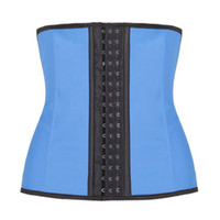 Wholesale 9 Steel Boned Inner Shape Waist Training Corsets Shapers Sport Waist Trainer Women Slimming Body Shaper Rubber Corset Fitness S XL