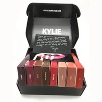 Wholesale kylie Jenner Lip Kit Matte Liquid Lipstick batom With Lip Gloss set Lasting Make up Liner in black box cosmetic beauty