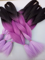 african hair braiding styles - New Fashion Lavender Voilet T Ombre Jumbo Braiding Hair packs Synthetic Heat Resistant Box Braiding Hair Bulk Extensions African Styles