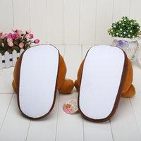 Wholesale pair Rilakkuma Bear cartoon plush slipper inch rilakkuma bear slippers oragne color plush toys